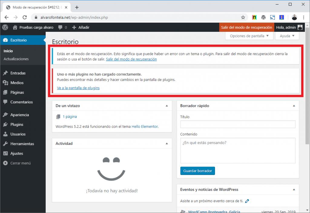 Solución de problemas y errores en WordPress